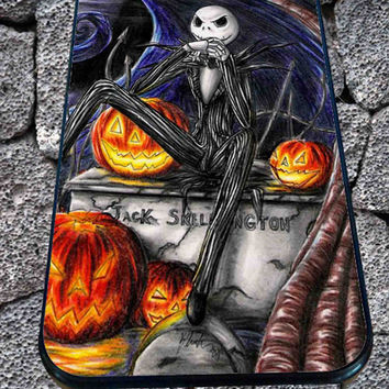 jack skellington Nightmare Before Christmas for iPhone 4/4s/5/5S/5C/6, Samsung S3/S4/S5 Unique Case *99*