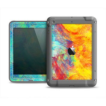 The Vibrant Colored Messy Painted Canvas Apple iPad Mini LifeProof Fre Case Skin Set
