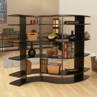 5 Foot Wide Contour Room Divider Shelf