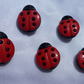 Ladybug Button Thumbtacks, whimsical office decor, Fun pushpins, Button Accessories, Office Accessories,  Office Items, Ladybug Collectors