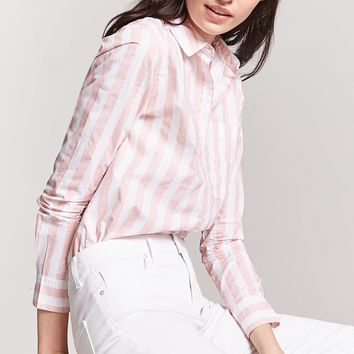 High-Low Striped Shirt