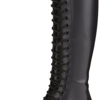 Women's Dr Martens 1B60 Buttero Knee High Lace Up Leather Boot Black