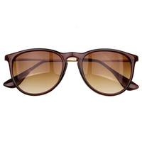 Tan Gradient Lens Cat Sunglasses
