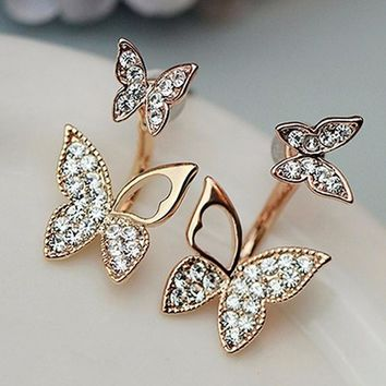 Hanging Butterfly Duo Earrings (9 Color Options)