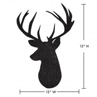 Wake Up Frankie - Deer Head Wall Decal - Black : Teen Bedding, Pink Bedding, Dorm Bedding, Teen Comforters