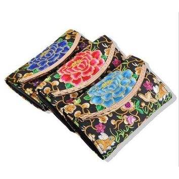 Yunnan National Style Embroidery Woman's Evening Banquet Bag Handbag Chinese Sty