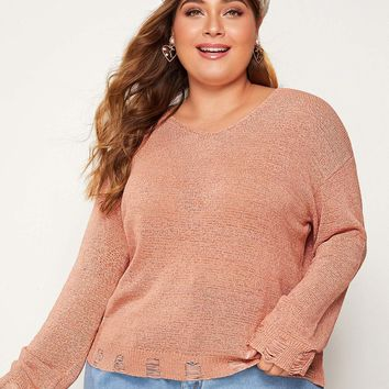 Plus Ripped Detail Sweater