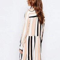 Vila Stripe Drop Waist Dress at asos.com