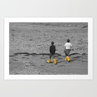 Two boys  Art Print by  Alexia Miles Photography