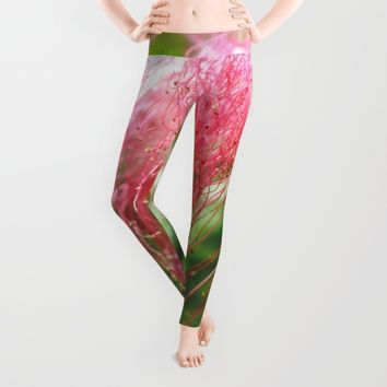 Pink Costa Rican Flower Leggings by UMe Images