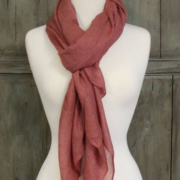 Muted Heather Scarf, Mulberry