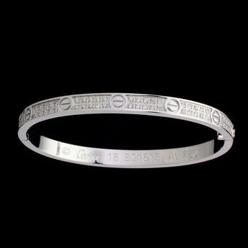 One-nice™ Cartier Woman Fashion LOVE Diamond Plated Bracelet Jewelry