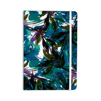 "Ebi Emporium ""Floral Fiesta Teal"" Watercolor Pattern Everything Notebook"