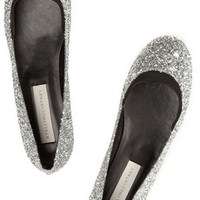 Stella McCartney Glitter-finished ballet flats – 50% at THE OUTNET.COM