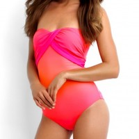 Seafolly Miami Neon Melon Maillot - Buy this gorgeous Seafolly Miami Maillot at Coco Bay