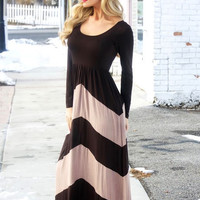 Jasmine Chevron Maxi Dress