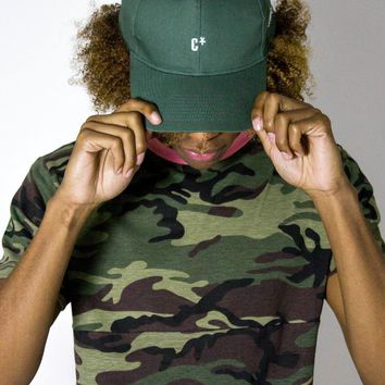 The CXX Curved Brim Baseball Cap | Jungle Green