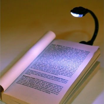 Mini Flexible Clip-On Bright Book Light Laptop LED Book Reading Light Lamp (Color: Black) [8045602503]