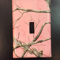 Pink Camo Light Switch Cover, Real Tree Camo Switchplate, Real Tree Pink Camo Switchplate
