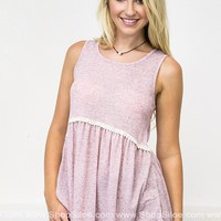 Summer Blush Babydoll Top