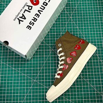 CDG PLAY x Converse Chuck Taylor Material OX Addict Vibram Mid Sneakers - Sale