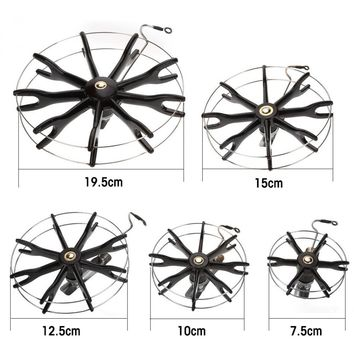 Outlife 80 to 200mm Stainless Stee Fishing Reel Wire Frame Thickened Plastic Axles Fishing Reel Tackle Accessory
