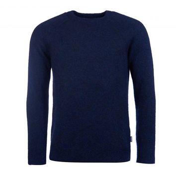 Lowther Crew Neck Sweater in Navy by Barbour - FINAL SALE