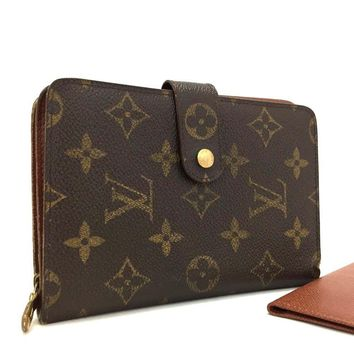 100% Authentic Louis Vuitton Monogram Porte Papier Zippe Bifold Wallet /205