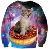 Donut Cat of the Galaxy Crewneck