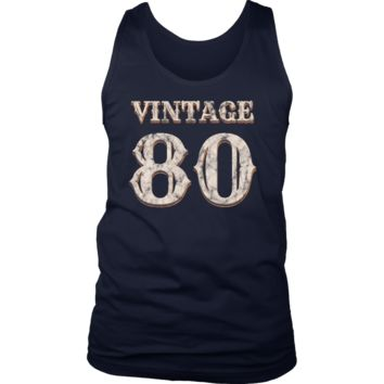 Men's Vintage 80 Tank Top 38th Birthday Gift for 38 Year Old