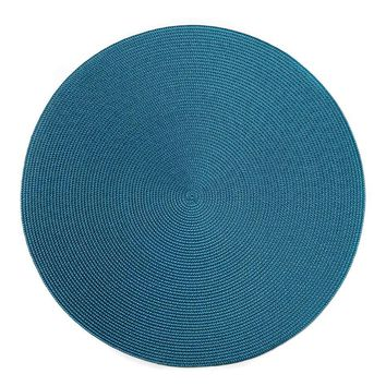 "15"" Round  Linen Braid Placemat S/4 