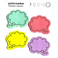 Colorful Speech Bubble Outline Shaped Memo Sticky Post-it Notes   Stationery