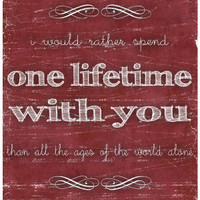One Lifetime With You 8x10 Print Lord of the Rings by tiedyejedi