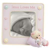 "Precious Moments - Jesus Loves Me - Baby Girl Frame 5"" x 5.25"" by Precious Moments - 813003"