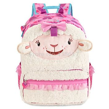 Cute Doc McStuffins Lambie Lamb Backpack Girls School Bag Cartoon Fashion Kindergarten Schoolbag For Children Kids Bags