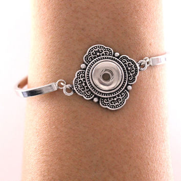 bohemian Vintage bangle for women Watches Women One Direction Metal Snap Button Bracelet B227 (fit 12mm Snaps)