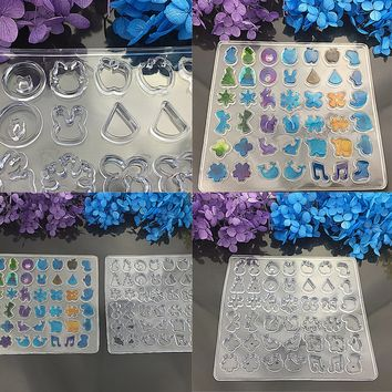 DIY Assorted Shape Silicone Earring Mold For Epoxy Resin Jewelry Making Crafts Tool