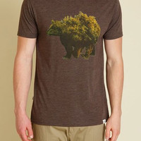 tentree Black Water T-Shirt for Men in Heather Bark MSBLA-HBRK