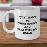 Funny Football Baseball Soccer Basketball Tennis Coffee Mug-Cool Gift For Him Father Dad Friend Boyfriend Funny Joke Best Personalized Gifts