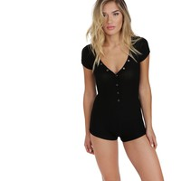 Black Lights Out PJ Romper