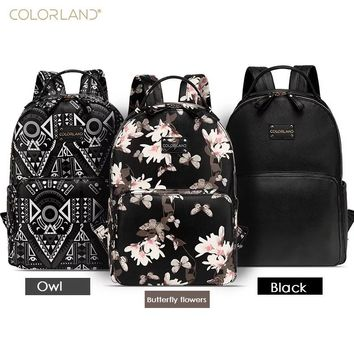 Colorland PU Leather fashion baby Care Nursing mummy maternity nappy diaper bag organizer brand mom backpack handbags for moms