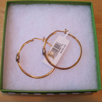 Victoria Townsend~18K Gold over Sterling Silver~Smokey Quartz~Hoop Earrings~$230