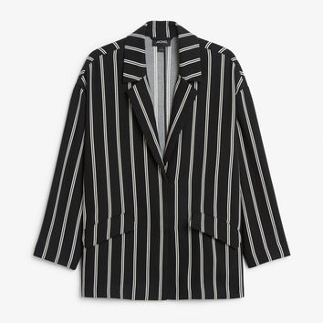 Long blazer - Striped to perfection - Coats & Jackets - Monki GB