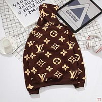 Louis Vuitton Woman Men Hooded Top Sweater Pullover Hoodie