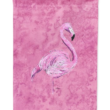 Flamingo on Pink Flag Garden Size