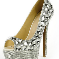 evening shoes, bridal shoes, bridesmaid shoes, wedding shoes, prom shoes, glitter pumps, sparkly high heels - page 4 | Milanoo.com