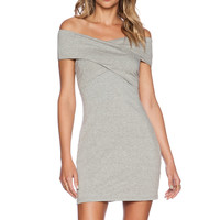 ISLA & LULU That's A Wrap Dress in Grey Marle