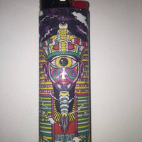 Third Eye Egyptian custom BIC lighter