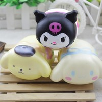 New Cute Cartoon Animals Squishy Fidget Toys Slow Rising Squeeze Phone Straps Ballchains Autism toys for grown up