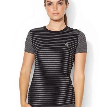 Lauren Ralph Lauren Multi Striped Crewneck Pocket Tee